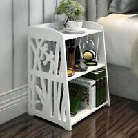 Hollow Bedside Table Nightstand Coffee Tea Side Lamp Desk Shelf Storage Bookcase