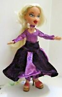 Bratz doll Long blonde hair mauve & purple velvet pant suit & skirt purple shoes