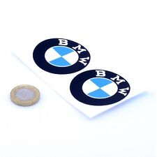 BMW Serif Badge Stickers Décalque En Vinyle Voiture 50 mm x2 Moto Course Classic Rally