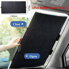 Retractable Car Front Window Sun Shade Visor Windshield Roller Blind 130x46cm