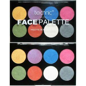Technic Metallic Face Body Paint Palette Set Kit Painting Cream Halloween Makeup