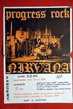 NIRVANA PROG HARD ROCK BAND RARE 1974 EXYUGO PROMO POSTER OBSCURE UNIQUE