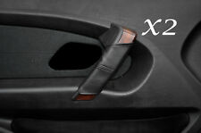 BLACK STITCH FITS BMW 3 SERIES E46 COMPACT 99-05 2X DOOR HANDLE SKIN COVERS
