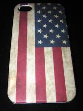 American Flag Hard Cover Case for iPhone 4 4s American Flag Vintage Look