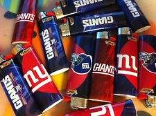 Bic Full Size Cigarette Lighters, NFL Edition - New York Giants, ( Set of 4 )