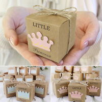 Kraft Paper Chocolate Candy Gift Boxes Wedding Party Baby Shower Favor Box X 10