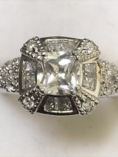 Sterling Silver Ring Size 6 Detailed And Gorgeous Cubic Zirconia