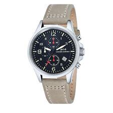 AV-8 Men's Hawker Harrier II AV-4001-03 Black Dial Chronograph Leather Watch
