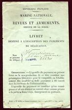 Guerre 1914-1918 .Marine Nationale.Revues et Armements.Livret Payments .1916
