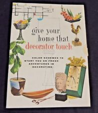 Vintage Give Your Home That Decorator Touch Booklet MCM Furniture Mid Century