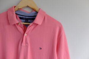 Vintage Tommy Hilfiger Pink polo s/sleeve shirt/t-shirt L Custom Fit