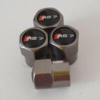 AUDI RS7 Gun Metal Grey Wheel Valve Dust caps all models S LINE S-line RS 7 TT