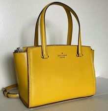New Kate Spade small Geraldine Patterson Drive Satchel Leather Vibrant Canary