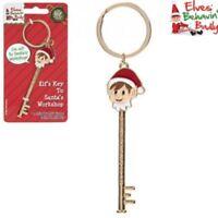 Elf Key To Santas Workshop Festive Themed Eve Keyring Original Christmas Shelf L