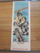 MERRY WIDOW Original 1934 Czech poster Ernst Lubitsch Maurice Chevalier LINEN