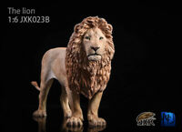 JxK Studio JXK023B 1/6 Scale Grey Lion 2.0 Animal Statue Model Toy Gift