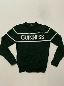 VINTAGE Guinness Green Sweater XS VINTAGE A0007