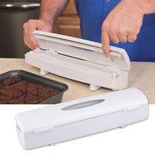 Kitchen Plastic Food Cling Wrap Foil Dispenser Cutter Preservative Film Tool EG