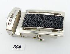 664) Gürtelschnalle buckle 3,2 cm aus Rochenleder Stingray Leather Кожа ската