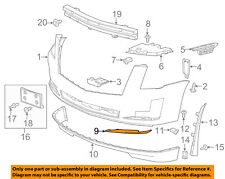 Cadillac GM OEM 15-16 Escalade Front Bumper-Lower Molding Right 22968429
