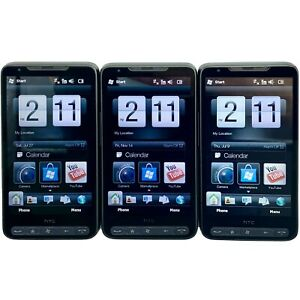 Lot of 3 - HTC HD2 Leo - Black (Unlocked) GSM Windows Mobile Touch Smartphone