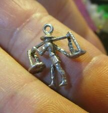 Vintage Silver Charm/Fob/Pendant - Water Carrier