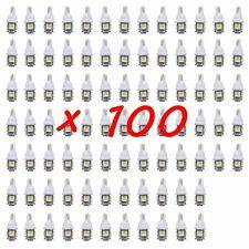 100PCS White T10 Wedge 5-SMD 5050 LED Light lamp bulbs W5W 2825 158 192 168 194
