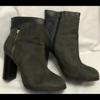 Juicy Cuoture Lucia Block Heels Suede Leather boots Women Size 10