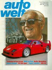 1988 Auto Welt Magazine: Enzo Ferrari/Robert Stempel/Sir John Egan/Alfa 164