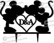Disney Personalizado De Acrílico Wedding Cake Topper, Pareja, compromiso, aniversario