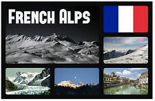 FRENCH ALPS - SOUVENIR NOVELTY FRIDGE MAGNET - FLAGS / SIGHTS - GIFT / BRAND NEW
