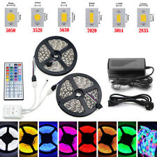 5M SMD 3528 5050 5630 3014 300LEDs RGB White LED strip lights Alimentation 12V