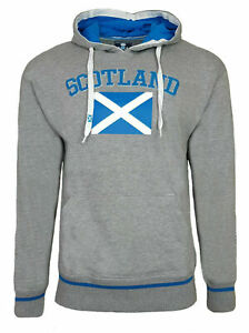 Scotland Flag Hoodie Mens 2XL Scottish Rugby Football Pullover Hooded Top