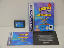 Spiel 11 - Gameboy Advance GBA - Pong, Asteroids, Yars Revenge + OVP + Anleitung