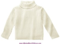 Gymboree NWT Ivory SWEATER TURTLENECK DRESS TOP RIBBED CABLEKNIT 3 6 9 12 Months