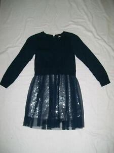 GIRLS DARK GREEN/SILVER DRESS FROM JIGSAW JUNIOR AGE 6-7 YEARS