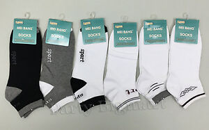 Bulk Lot 12x Pairs Men's Ankle Socks Cotton Colors Assorted white Black Grey-AU