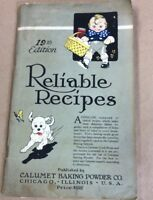 Vintage cookbook Reliable Recipes FREE SHIPPING INV-P1035