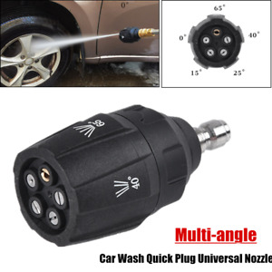1PC Multi-angle Five-in-one Car Wash Quick Plug Universal Connection Nozzle Tool