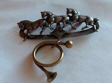 1995 Susan L Richardson – 3 Equestrian Horses with Dangling Horn Women's Pin Bro