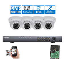 4CH H.265 NVR Sony CMOS 5MP PoE 48IR IP Audio ONVIF Security Camera System USA