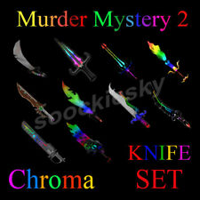 Roblox MM2 Chroma KNIFE SET Murder Mystery 2 Chromas 10x Knife Bundle Items WOW