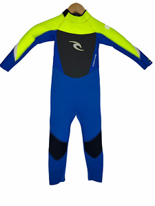 Rip Curl Childs Full Wetsuit Kids Size 6 Dawn Patrol Sealed 4/3 - Flash Lining!