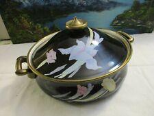 "Vintage Mikasa Grand Chef Charisma Black Cookware Lidded 10"" Pot/Pan Un710 Japan"