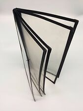 "25 Book Style Cafe Menu Covers - 5 Panel,10 Views, 13"" x 7.5"" Black (Cds-590Bk)"