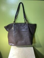 COACH 26225 Madison North South Leather Tote Brown Large HOBO shoulder BAG