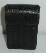 Vintage Leather Cigarette Case,West Germany (Worn Condition)
