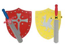 Ritter Set Schwert und Schild Spielzeug Zubehör Fasching Karneval Schaumstoff
