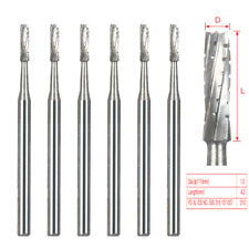 6x Dental Surgical Carbide Burs 25mm Length 557 Fgos Bone Cutting Fg 557xl 16mm