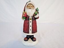 Santa Clause Figure Size 8 Tall Holding Gift and Sack New